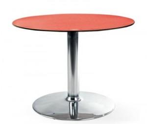 Оранжевый круглый стол для кафе